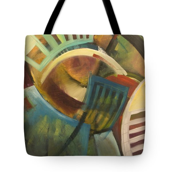 chairs around the table Tote Bag by Tim Nyberg
