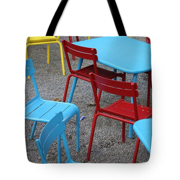 Chairs in Bryant Park Tote Bag by Lauri Novak