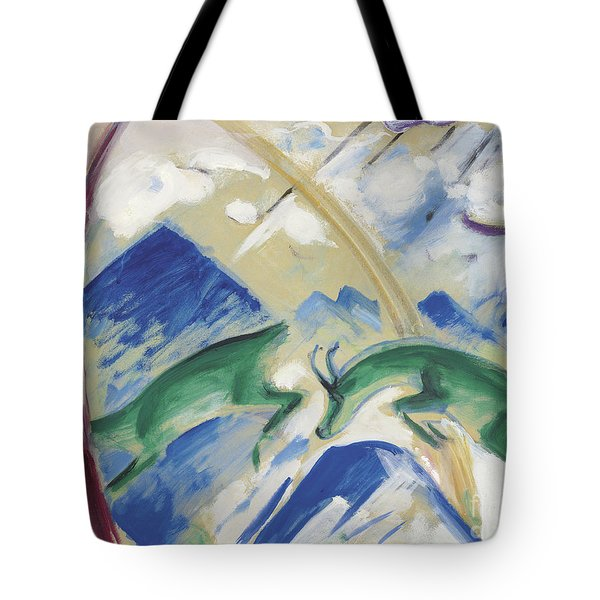Chamois Tote Bag by Franz Marc