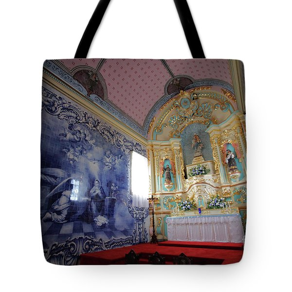 Chapel In Azores Islands Tote Bag by Gaspar Avila