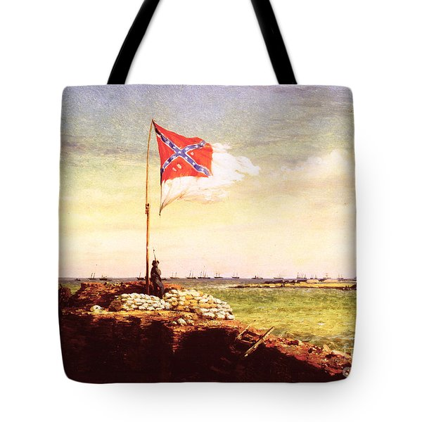 Chapman Fort Sumter Flag Tote Bag by Granger