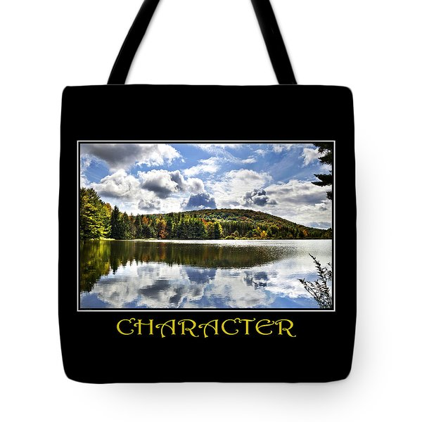 Character Inspirational Motivational Poster Art Tote Bag by Christina Rollo
