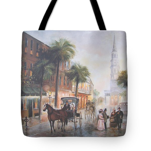 Charleston Somewhere In Time Tote Bag by Charles Roy Smith