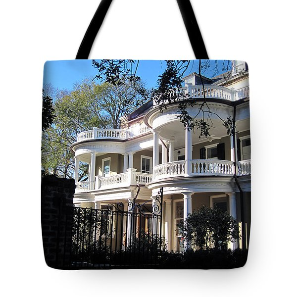 Charlestons beautiful architecure Tote Bag by Susanne Van Hulst