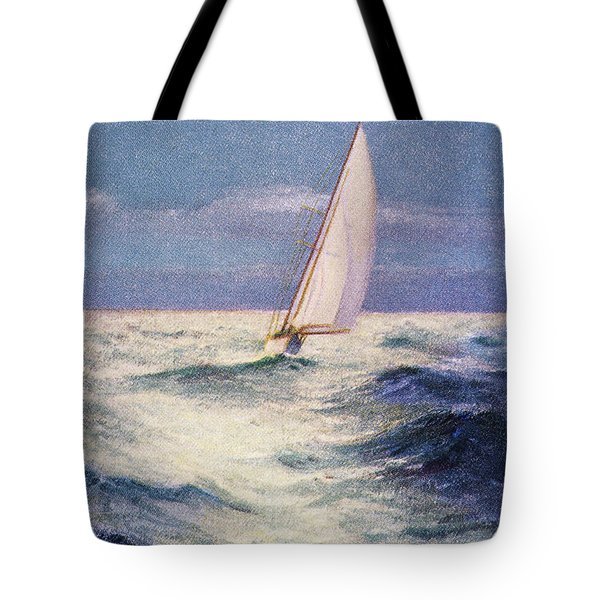 Chas Marer - Sailboat Tote Bag by Hawaiian Legacy Archive - Printscapes