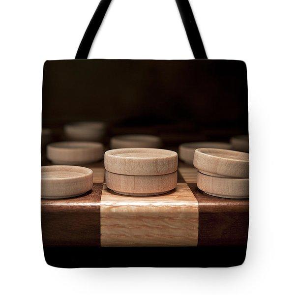 Checkers I Tote Bag by Tom Mc Nemar