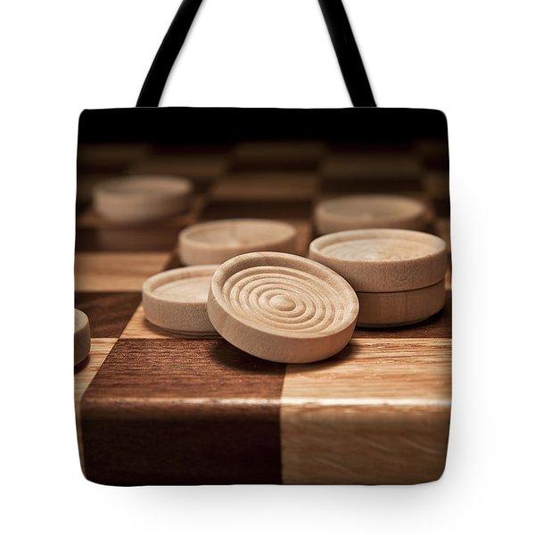 Checkers II Tote Bag by Tom Mc Nemar