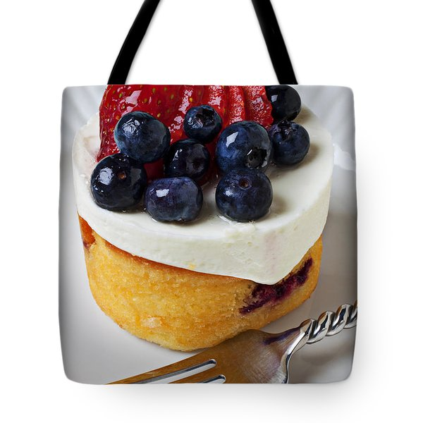 Cheese cream cake with fruit Tote Bag by Garry Gay