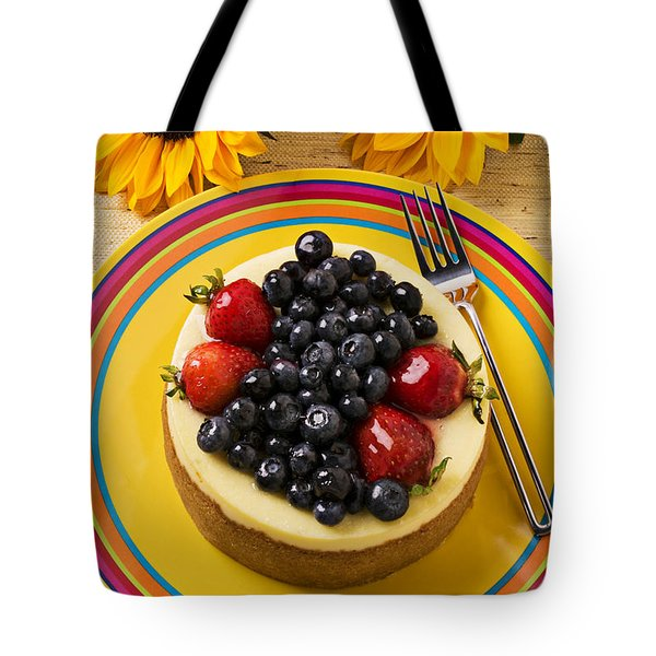 Cheesecake with fruit Tote Bag by Garry Gay