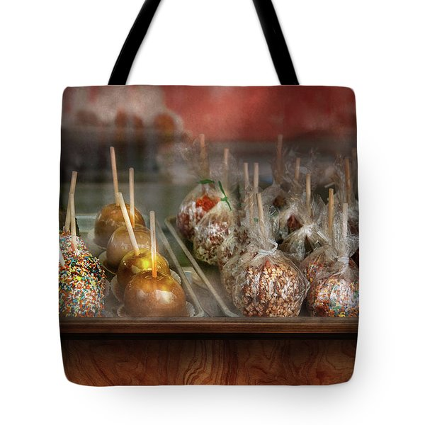 Chef - Caramel Apples For Sale Tote Bag by Mike Savad