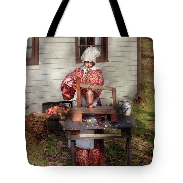 Chef - Coring Apples Tote Bag by Mike Savad