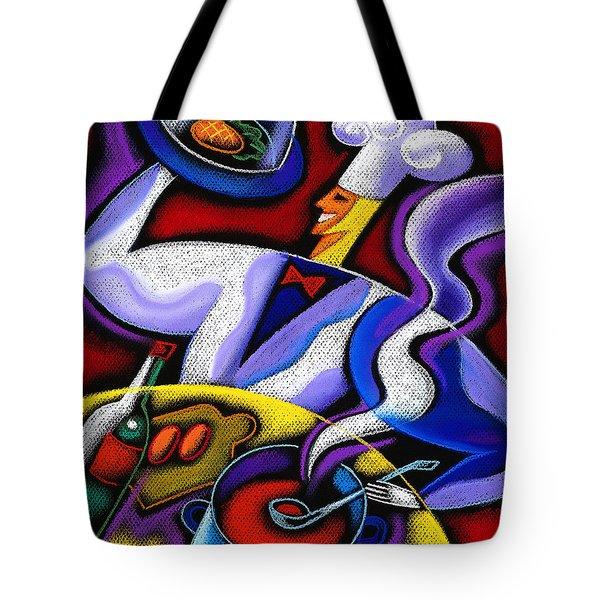 Chef Tote Bag by Leon Zernitsky