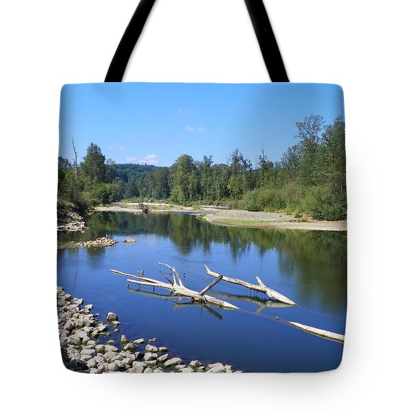 CHEHALIS RIVER WASHINGTON Tote Bag by LAURIE KIDD