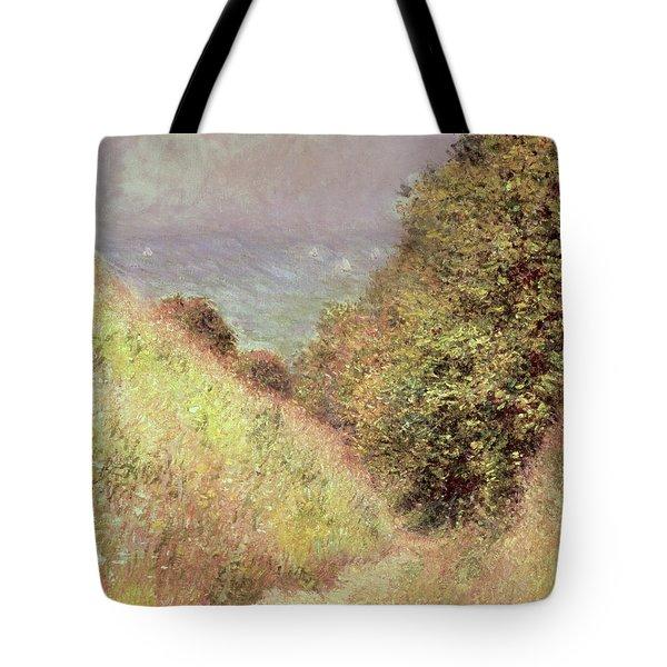 Chemin De La Cavee Pourville Tote Bag by Claude Monet