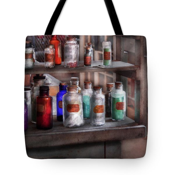 Chemistry - Ready to experiment  Tote Bag by Mike Savad