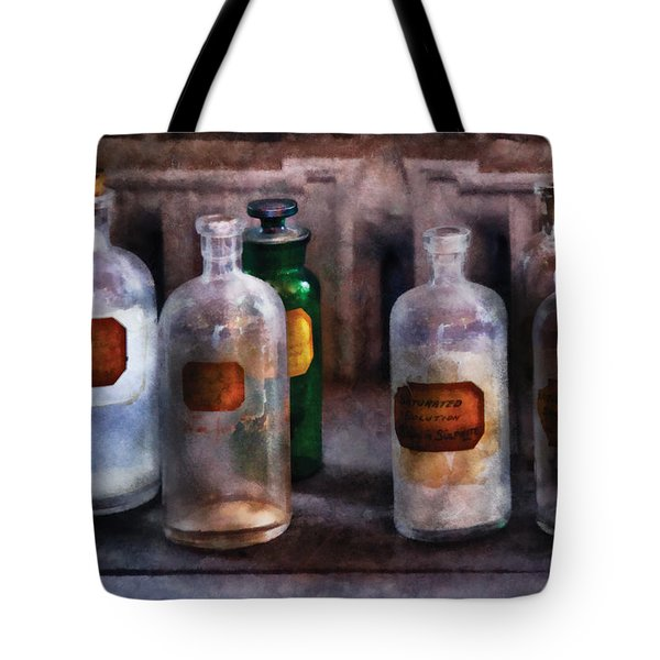 Chemistry - Saturated Solutions Tote Bag by Mike Savad