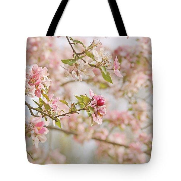 Cherry Blossom Delight Tote Bag by Kim Hojnacki