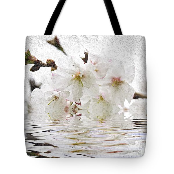 Cherry blossom in water Tote Bag by Elena Elisseeva