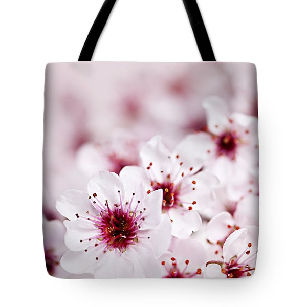 Cherry blossoms Tote Bag by Elena Elisseeva