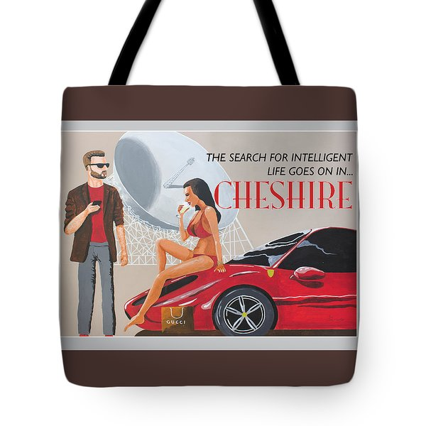 Cheshire Poster Tote Bag by Eric Jackson
