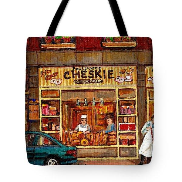 Cheskies Hamishe Bakery Tote Bag by Carole Spandau