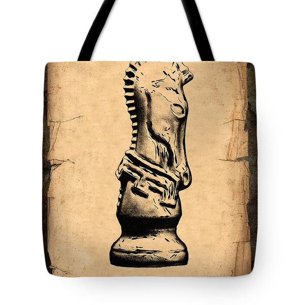 Chess Knight Tote Bag by Tom Mc Nemar