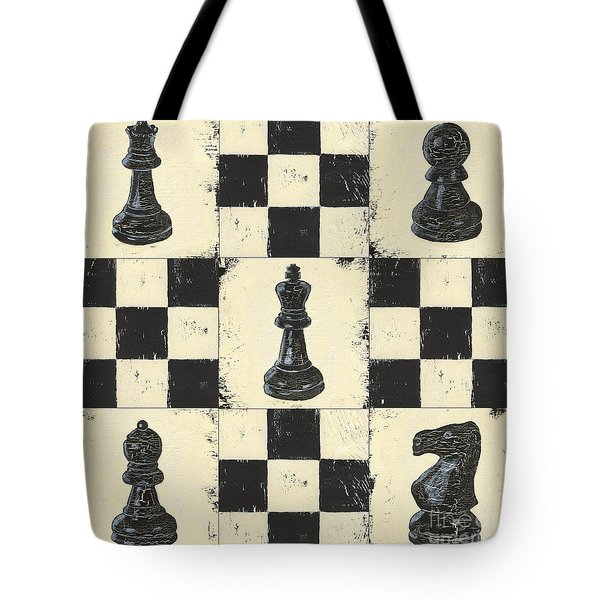 Chess Pieces Tote Bag by Debbie DeWitt