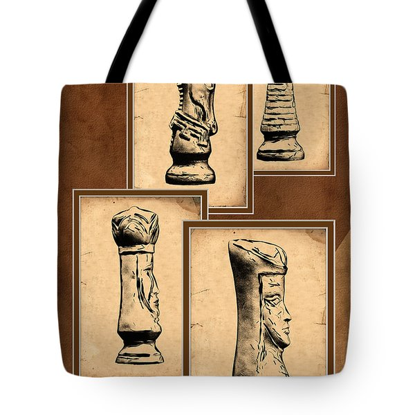 Chess Pieces Tote Bag by Tom Mc Nemar