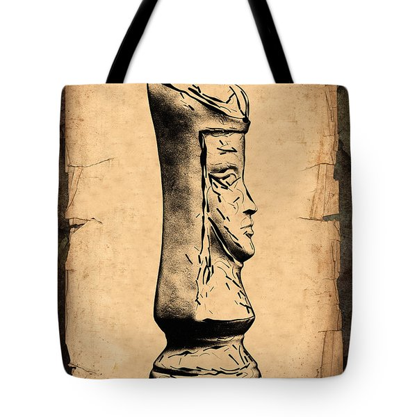Chess Queen Tote Bag by Tom Mc Nemar