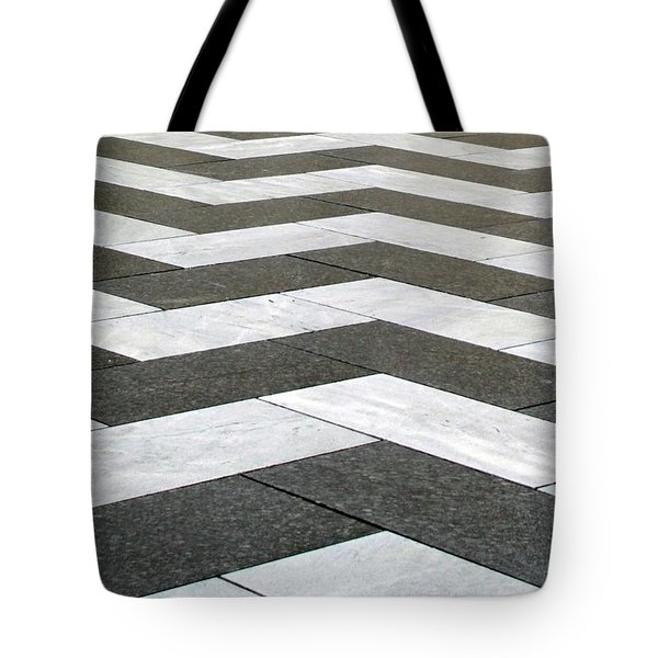Chevron  Tote Bag by Linda Woods