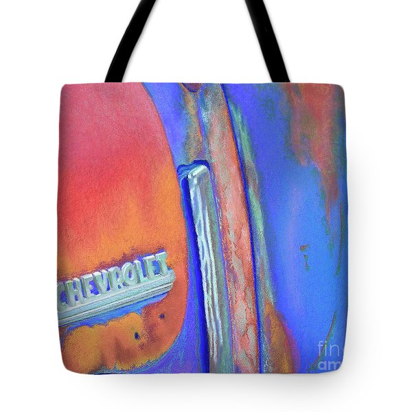 Chevy Blues Tote Bag by Tracy L Teeter