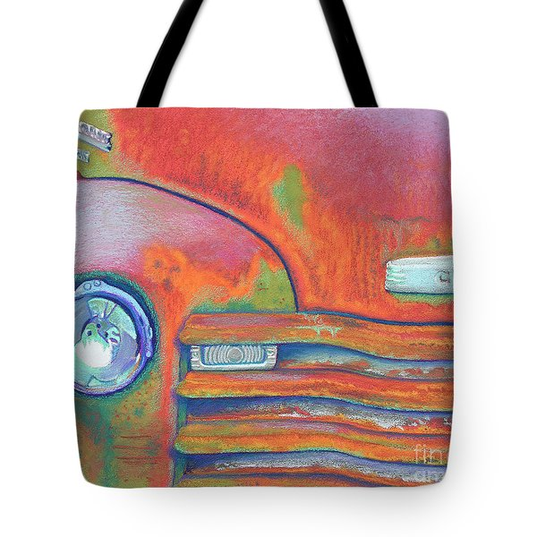 Chevy Rust Tote Bag by Tracy L Teeter