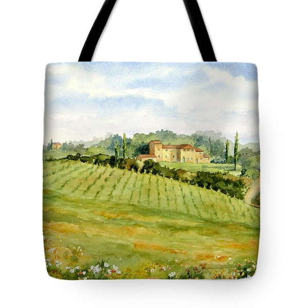 Chianti Villa Tote Bag by Vikki Bouffard