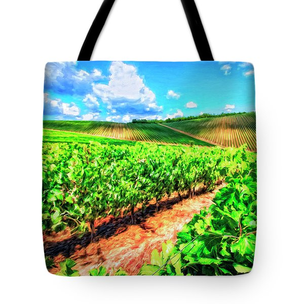 Chianti Vineyard In Tuscany Tote Bag by Dominic Piperata