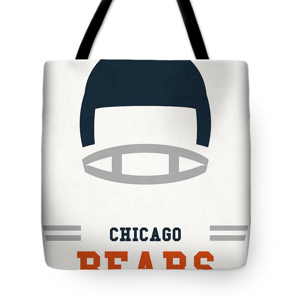 Chicago Bears Vintage Art Tote Bag by Joe Hamilton