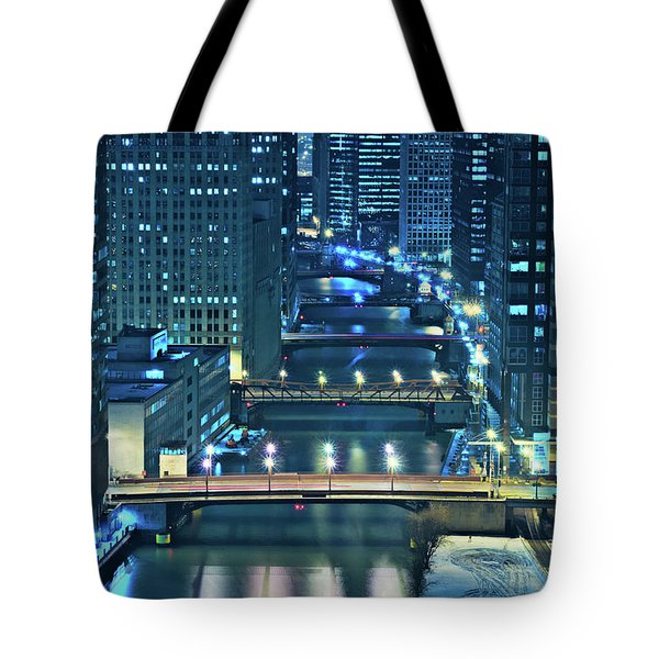 Chicago Bridges Tote Bag by Steve Gadomski