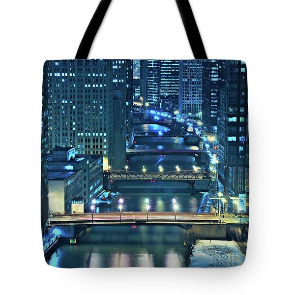 Chicago Bridges Tote Bag by Steve Gadomski