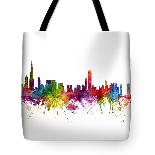 Chicago Cityscape 06 Tote Bag by Aged Pixel