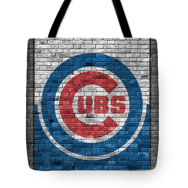 Chicago Cubs Brick Wall Tote Bag by Joe Hamilton