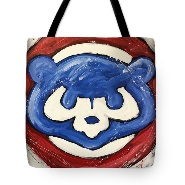 Chicago Cubs Tote Bag by Elliott From