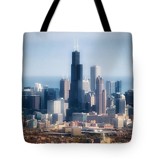 Chicago Looking East 02 Tote Bag by Thomas Woolworth