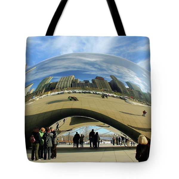 Chicago Reflected Tote Bag by Kristin Elmquist