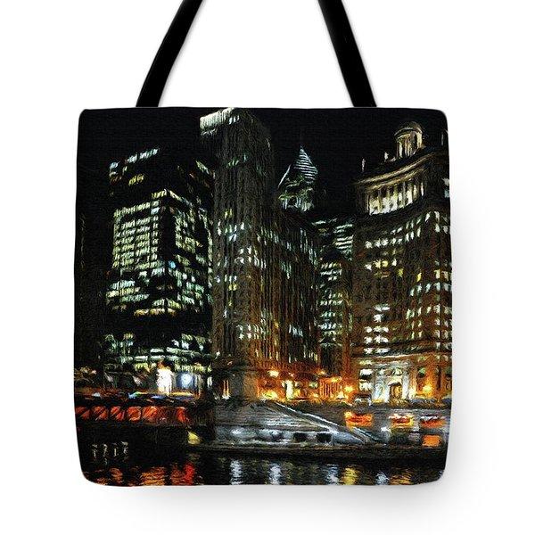 Chicago River Crossing Tote Bag by Jeff Kolker