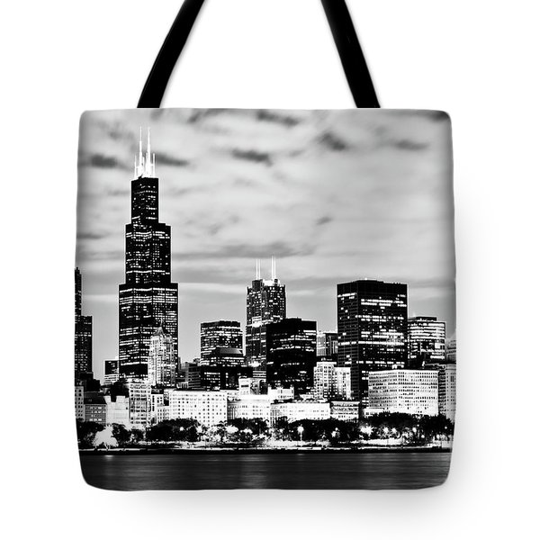 Chicago Skyline At Night Tote Bag by Paul Velgos