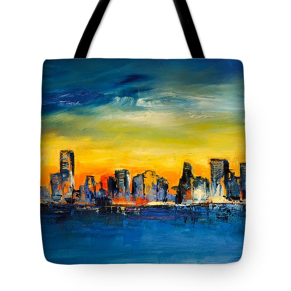 Chicago Skyline Tote Bag by Elise Palmigiani