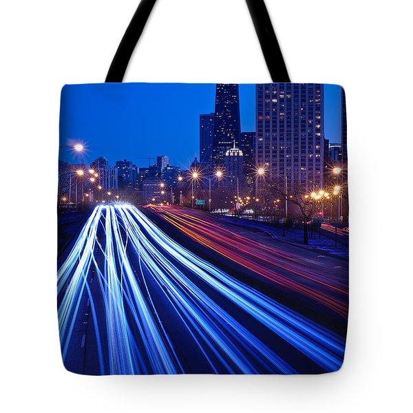 Chicagos Lake Shore Drive Tote Bag by Steve Gadomski