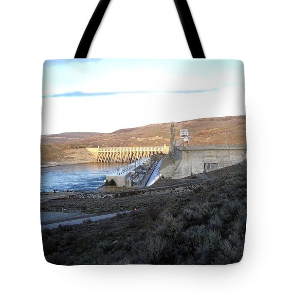Chief Joseph Dam Tote Bag by Will Borden