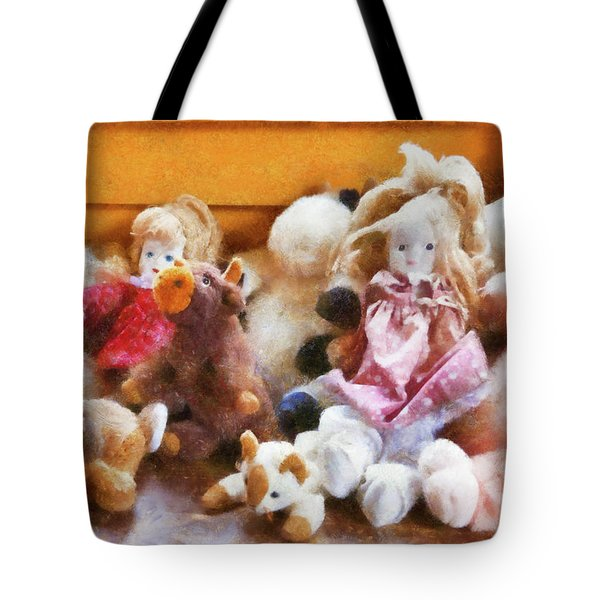Children - Toys - Childhood Toys  Tote Bag by Mike Savad