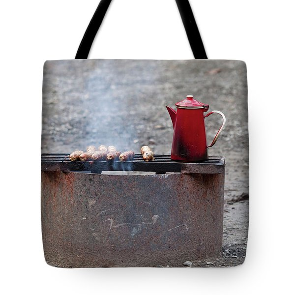 Chilly Morning Tote Bag by Louise Heusinkveld