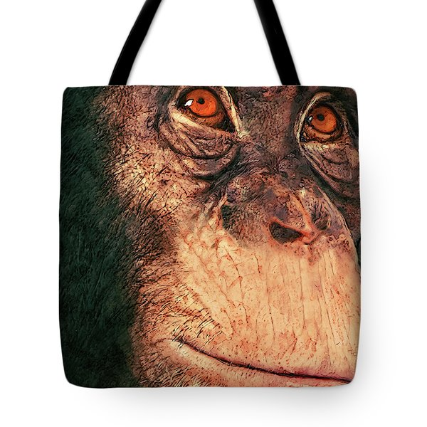 Chimp Tote Bag by Jack Zulli